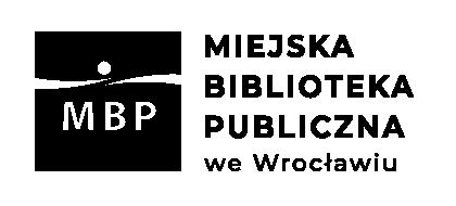 Czarno-białe logo Miejskiej Biblioteki Publicznej we Wrocławiu